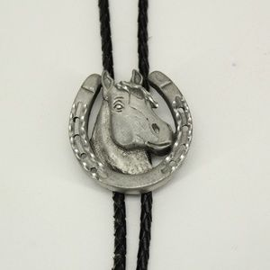 Vintage Horse & Horseshoe Western Bolo Tie